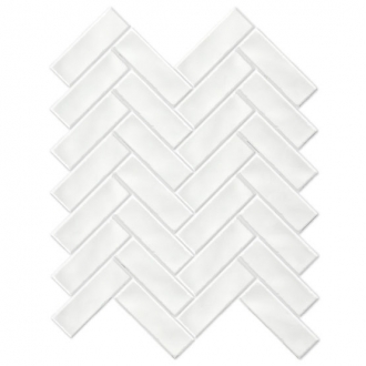 Always Herringbone Mosaic Snow