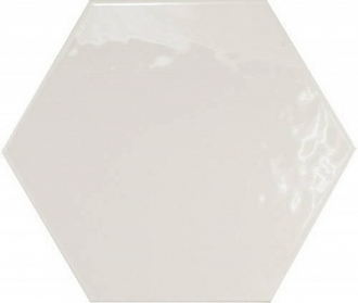Hexatile Blanco Brillo