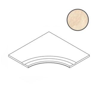 Бордюр Italon Materia Magnesio Bordo Svasato Angolare Round 30 60x60 матовый