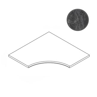 Бордюр Italon Materia Titanio Bordo Angolare Round 30 60x60 матовый