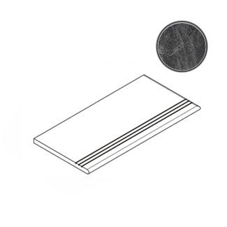 Ступень Italon Materia Titanio Gradino Round Grip DX 30x60 матовая