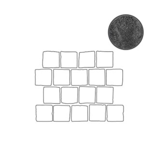 Декоративный элемент Italon Materia Titanio X2 Blocks 26,3x33 матовый