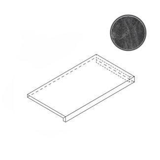 Ступень Italon Materia Titanio X2 Scalino Angolare DX 33x60 матовая