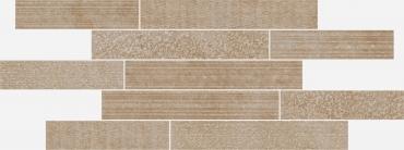 Мозаика Italon Materia Brick Multiline Warm 29,6x79,7 матовая