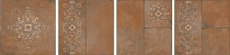 Каменный остров коричневый декорированный SG926400N