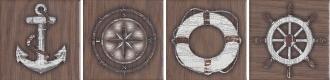 Вставка Марекьяро коричневый 33051\7