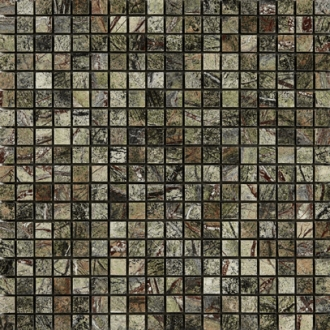 Marble Mosaic Rain Forest Green