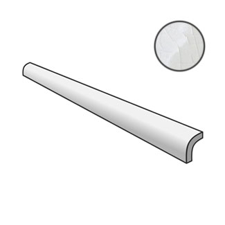Masia Pencil Bullnose Blanco Crackle 23305