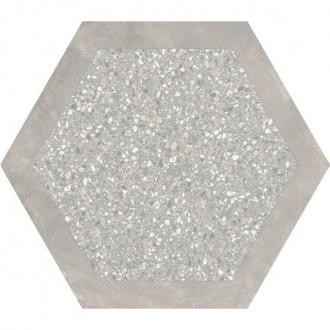 Cocciopesto Malta + Portland Hexagon CP60MP