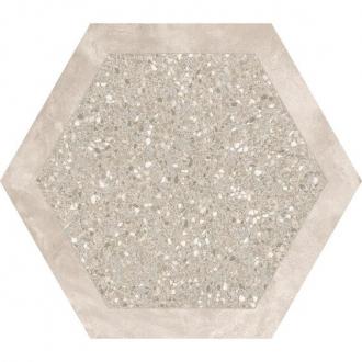 Cocciopesto Sabbia + Terracotta Hexagon CP60STC