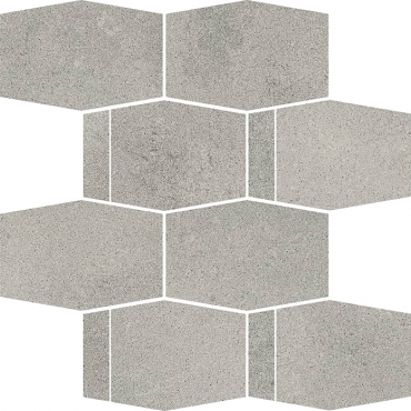 Мозаика Paradyz Naturstone Antracite Mozaika Cieta Hexagon Mix 23,3x28,6 матовая