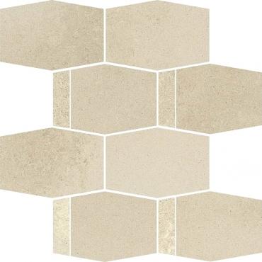 Мозаика Paradyz Naturstone Beige Mozaika Cieta Hexagon Mix 23,3x28,6 матовая