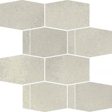 Мозаика Paradyz Naturstone Grys Mozaika Cieta Hexagon Mix 23,3x28,6 матовая