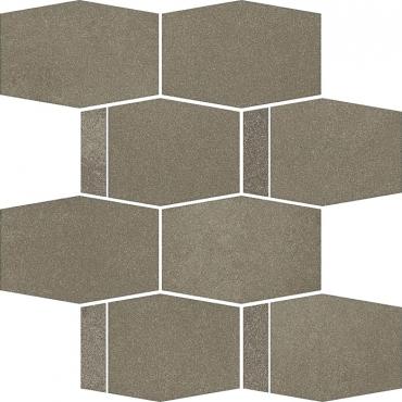 Мозаика Paradyz Naturstone Umbra Mozaika Cieta Hexagon Mix 23,3x28,6 матовая
