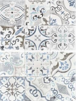 Craft Decor Liberty Grigio (bianco, grigio, blu) R2YH