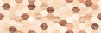 Rev. Decorado Hexagon Beige
