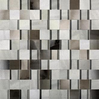 Alabastri Fume Mosaico 3D Lap. Rett. 739967