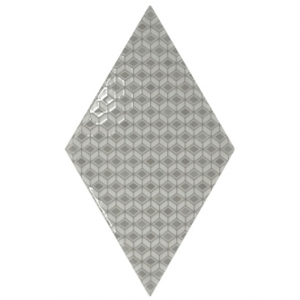 Rhombus Pattern Grey