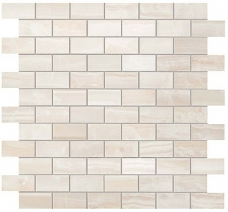 S.O. Pure White Brick Mosaic