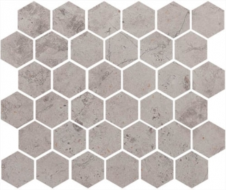 Мозаика Fibre Hexagon Grey Lappato