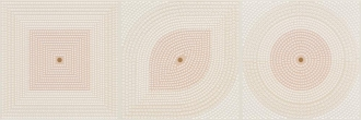 Flavia Beige Geometric Decor