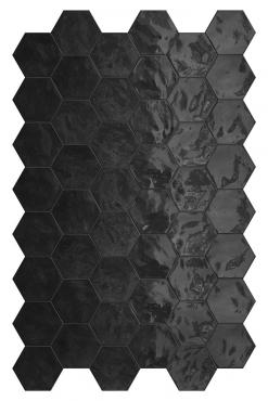 Мозаика Terratinta Hexa Black Swan TTHXW09G 15x17,3 глянцевая