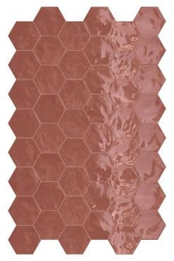 Мозаика Terratinta Hexa Cherry Pie TTHXW06G 15x17,3 глянцевая