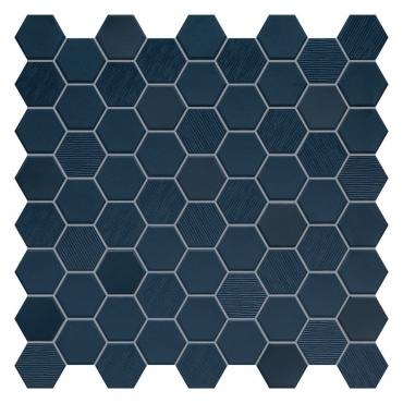 Мозаика Terratinta Hexa Deep Navy TTBST04MHMIX 31,6x31,6 матовая