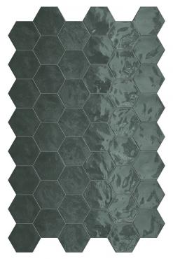 Мозаика Terratinta Hexa Green Echo TTHXW07G 15x17,3 глянцевая
