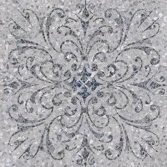 Терраццо серый декорированный обрезной SG632700R