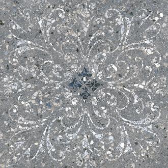 Терраццо серый тёмный декорированный обрезной SG632900R