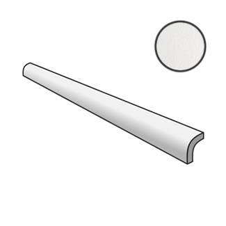 Crackle Pencil Bullnose White 25070