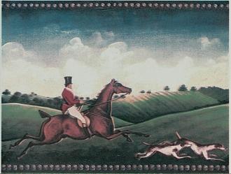 A fox hunting