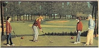 A golf a green