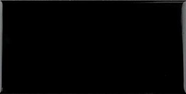Плитка Adex ADNE1080 Liso PB Negro 7,5x15 глянцевая