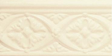 Бордюр Adex ADNE4001 Relieve Bizantino Biscuit 7,5x15 глянцевый