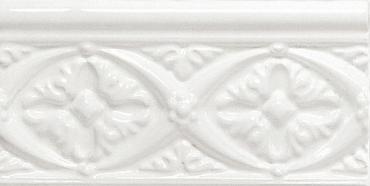 Бордюр Adex ADNE4002 Relieve Bizantino Blanco Z 7,5x15 глянцевый