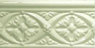 Бордюр Adex ADNE4081 Relieve Bizantino Celery 7,5x15 глянцевый