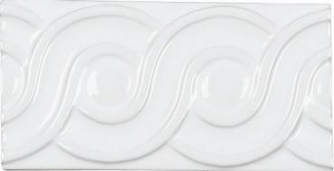 Бордюр Adex ADNE4113 Relieve Clasico Blanco Z 7,5x15 глянцевый