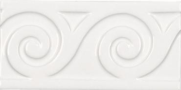 Бордюр Adex ADNE4118 Relieve Mar Blanco Z 7,5x15 глянцевый