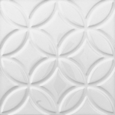 Декоративный элемент Adex ADNE4125 Relieve Botanical Blanco Z 15x15 глянцевый