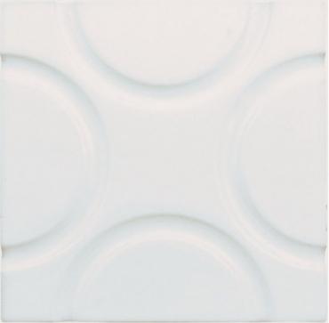 Декоративный элемент Adex ADNE4128 Relieve Geo Blanco Z 15x15 глянцевый
