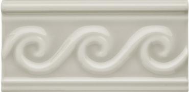 Бордюр Adex ADNE4132 Relieve Olas PB Silver Mist 7,5x15 глянцевый