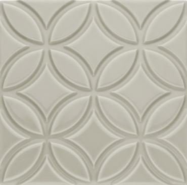 Декоративный элемент Adex ADNE4136 Relieve Botanical Silver Mist 15x15 глянцевый