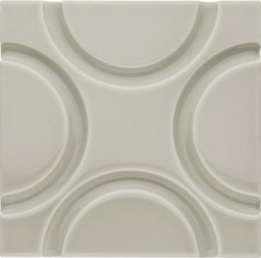 Декоративный элемент Adex ADNE4138 Relieve Geo Silver Mist 15x15 глянцевый