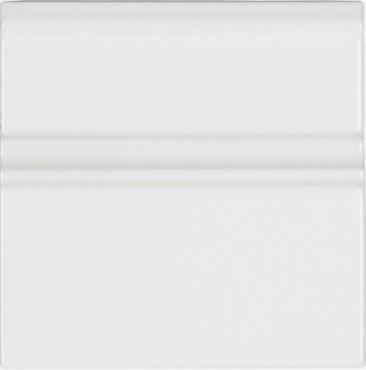Бордюр Adex ADNE5319 Rodapie Clasico Blanco Z 15x15 глянцевый