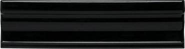 Бордюр Adex ADNE5439 Cornisa Clasica Negro 3,5x15 глянцевый