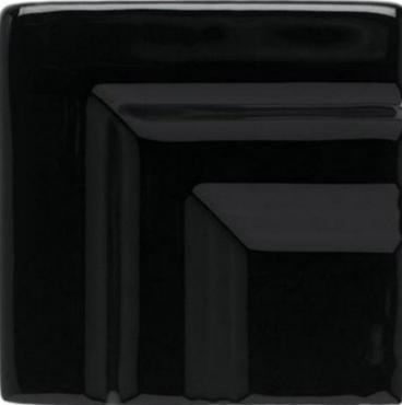 Вставка Adex ADNE5487 Angulo Marco Cornisa Clasica Negro 3,5x3,5 глянцевая