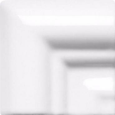 Вставка Adex ADNE5488 Angulo Marco Moldura Italiana PB Blanco Z 5x5 глянцевая