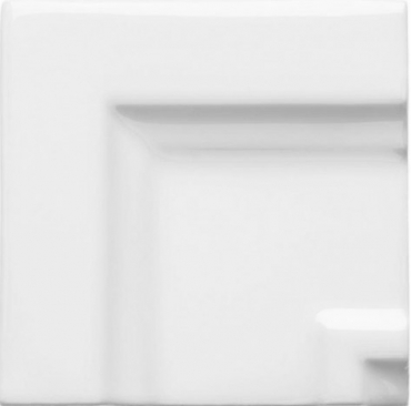 Вставка Adex ADNE5515 Angulo Marco Cornisa Clasica Blanco Z 7,5x7,5 глянцевая